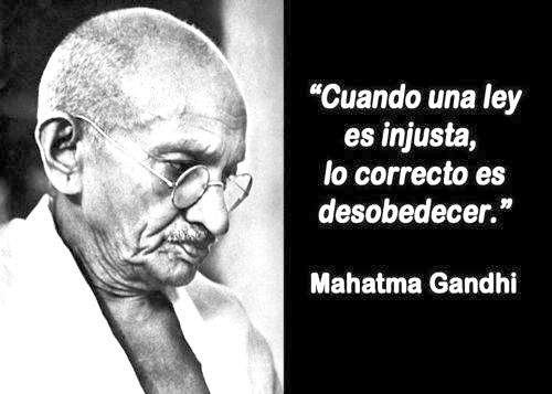Frase de Mahatma Gandhi.
