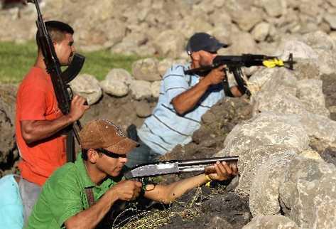 Miembros de la autodefensa de Michoacán.