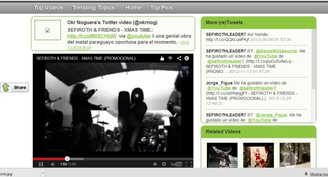 Video promocional compartido por un fan.