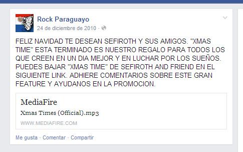 Rock Paraguay, uno de los pocos que compartió el link.
