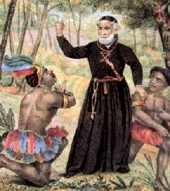 Dominacion religiosa de los indigenas en America.